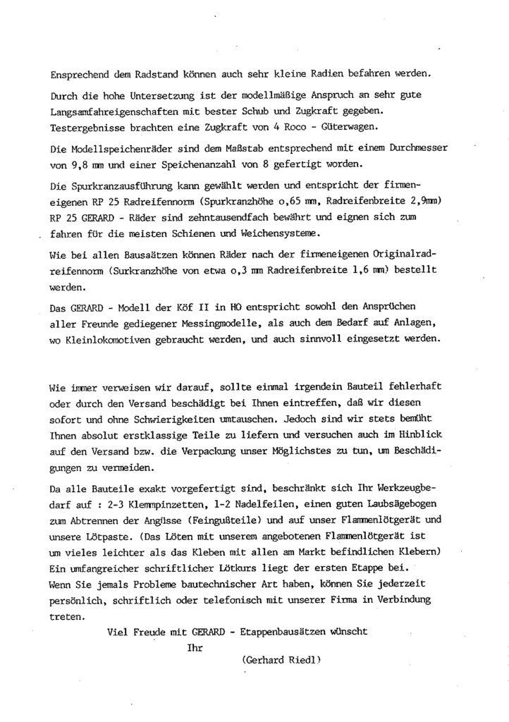 Bauanleitung Gerard Köf II 1/87 – Seite 8