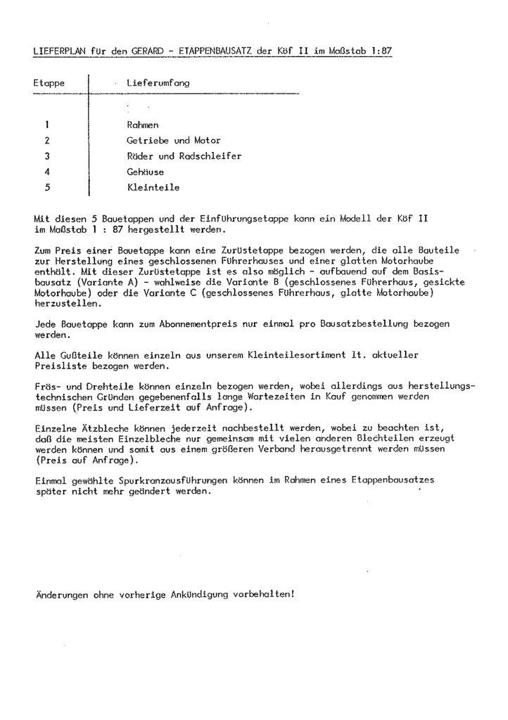 Bauanleitung Gerard Köf II 1/87 – Seite 9