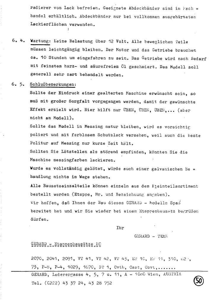 Bauanleitung Gerard Köf II 1/87 – Seite 70