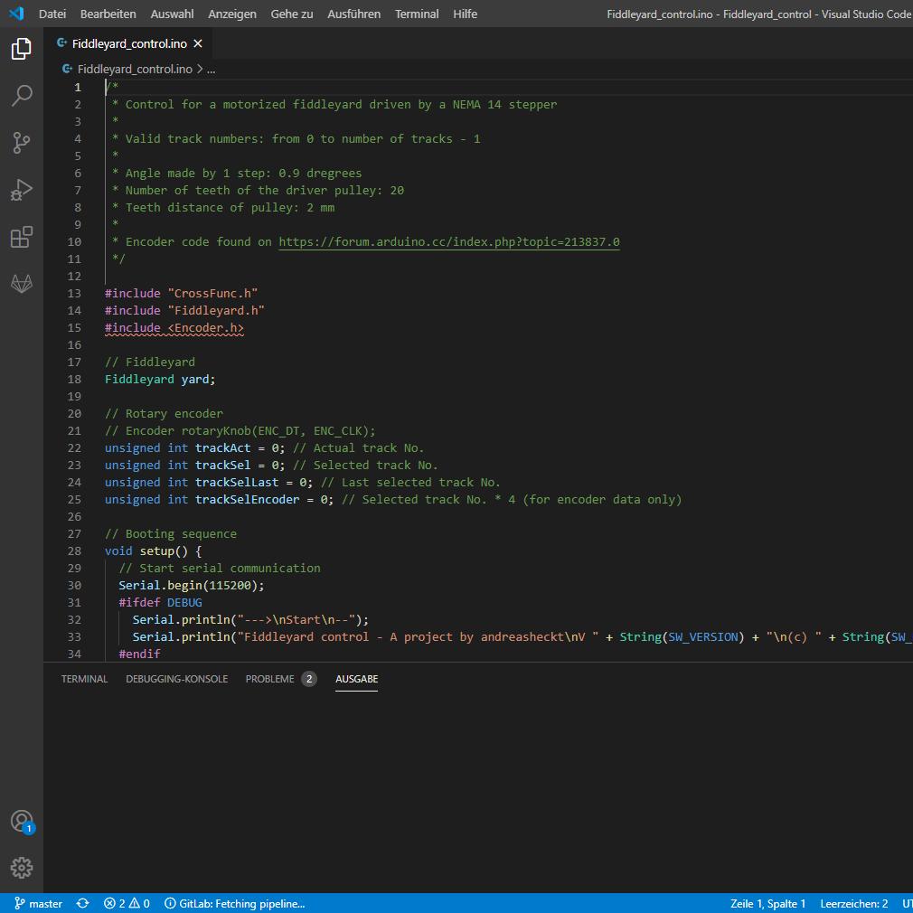 Entwicklung mit Visual Studio Code